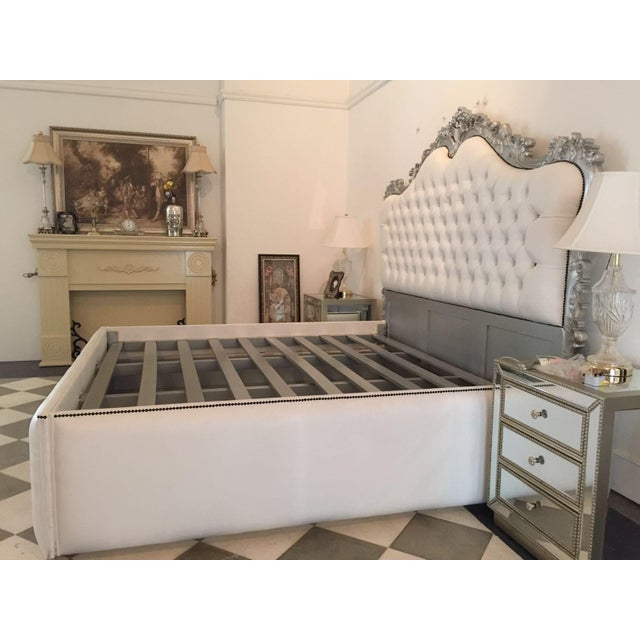 French Upholstered Bed King Size Rococo Baroque Style - Image 3 of 3