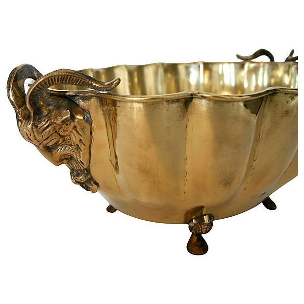 Brass Rams Head Bowl - Image 3 of 5