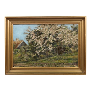 Danish Impression Oil Painting 'Flowering Tree'