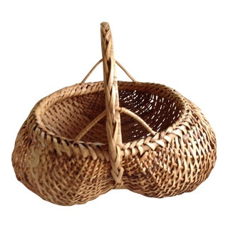 Vintage Braided Market Basket