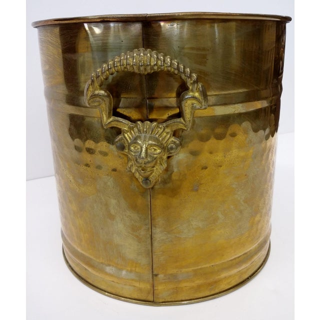 Brass Lion Head Handle Planter - Image 5 of 9