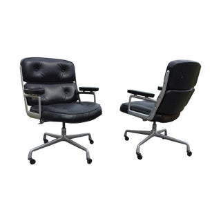 Eames Herman Miller Time Life Leather Chair - Pair