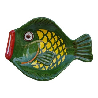 G. Arena Sliacca Vintage Ceramic Fish Wall Hanging