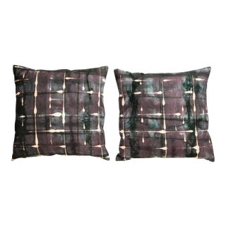 Plum Hand-Dyed Pillows - A Pair