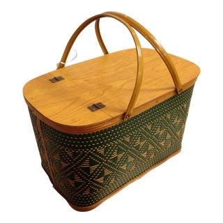 Vintage Picnic Basket - Hawkeye by Burlington