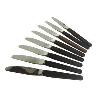 Dansk Rosewood Handle Knives - Set of 8