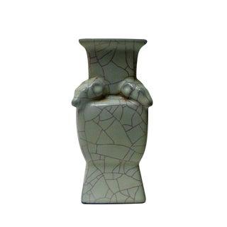 Chinese Crackle Ram Ceramic Vase