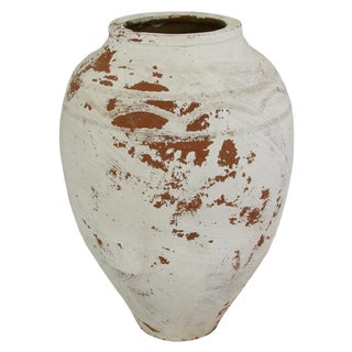Rug & Relic Vintage White Glaze Earthenware Pottery