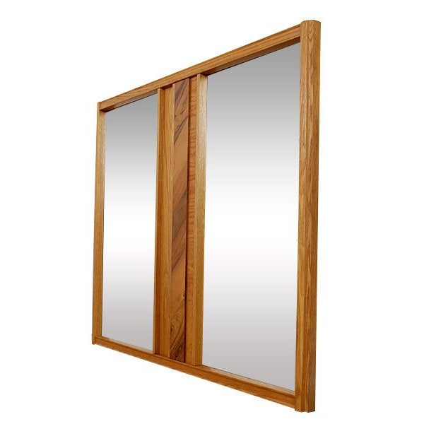 Image of Mid-Century Modern Oak and Hickory Mirror