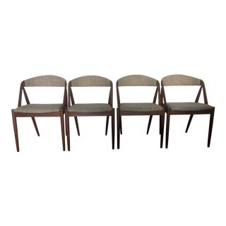1960's Kai Kristiansen Danish Modern Dining Chairs - Set of 4