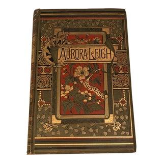 Antique Illustrated Poetry Book Aurora Leigh