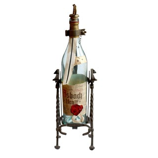 Wrought Iron Asbach Uralt Bottle Pourer