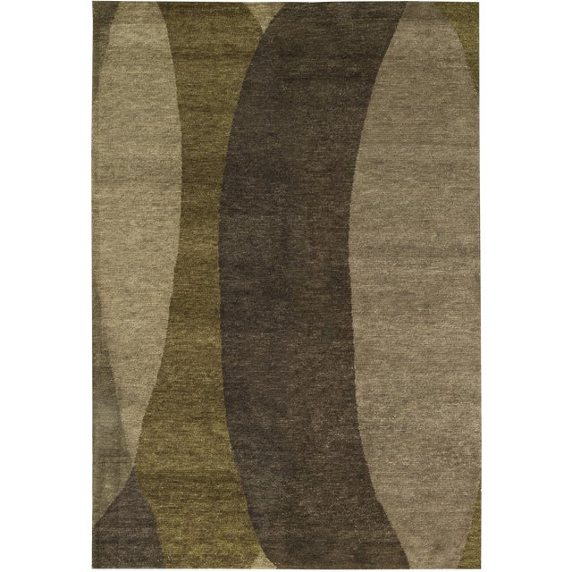 "Contemporary Hand-Woven Rug - 6'1"" x 9' - Image 1 of 3"