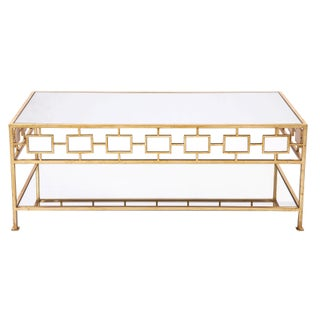 Gianna Gold & Mirrored Top Coffee Table