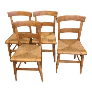Federal Tiger Maple Chairs - Set of 4