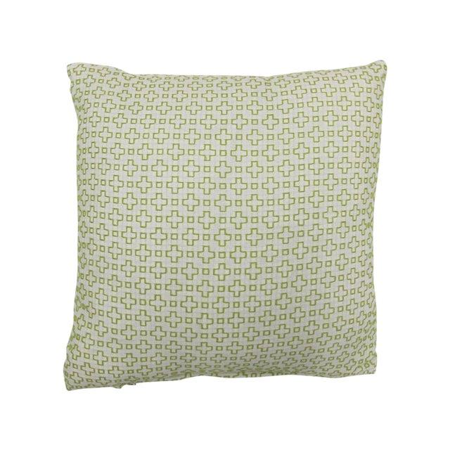 "Image of Seema Krish Green ""Altamount Road"" Pillow"