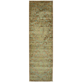 """Suzani, Hand Knotted Runner Rug - 3' 0"""" x 9' 10"""""""
