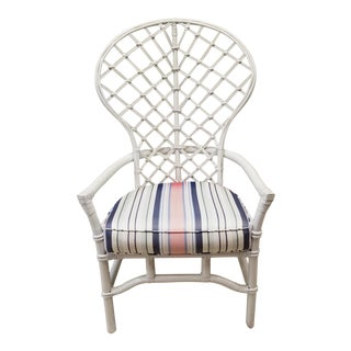 Ficks Reed Rattan Fan Back Chair