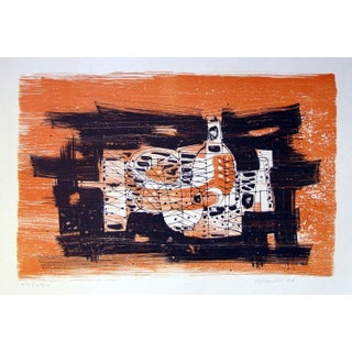 Paul Maxwell Modernist Still Life Lithograph