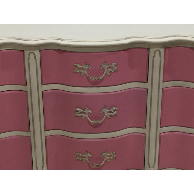 Pink & White French Provincial Dresser - Image 8 of 9