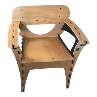David Kawecki Two-Tone Puzzle Chairs - A Pair