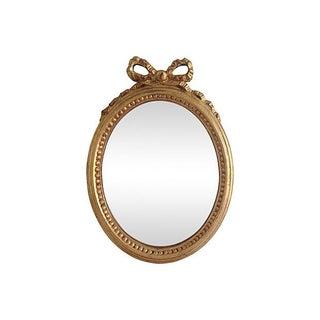 Italian Gilt Wood Oval Mirror