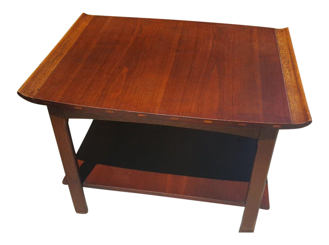 Lane Mid Century Danish Walnut End Table
