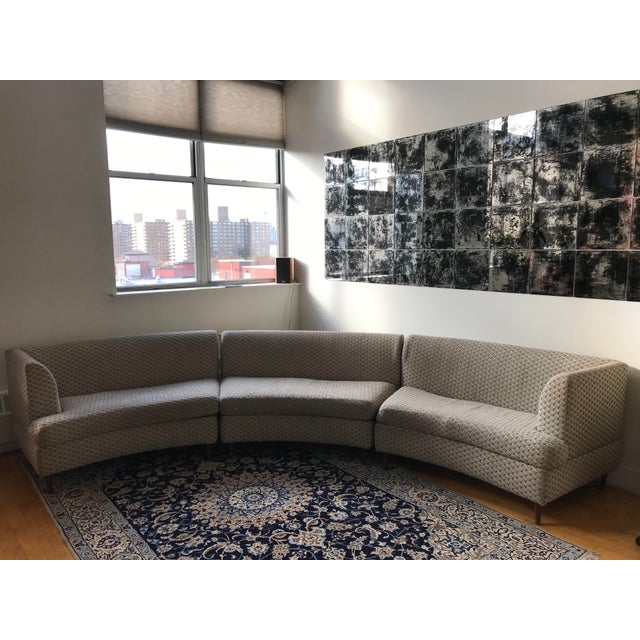 Curved Keller-Williams Vintage Mid Century Sectional Sofa - 3 Pieces - Image 3 of 9