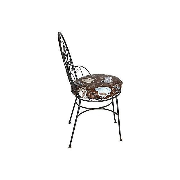 1950s Wrought Iron Bistro Set - Set of 3 - Image 9 of 10