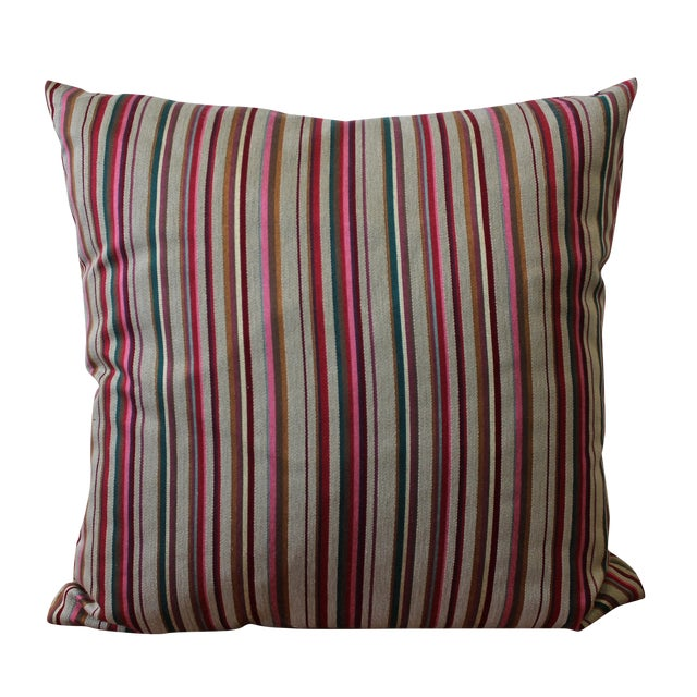 Contemporary Striped Pillow - Image 1 of 4