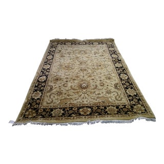 Hand Made Indian Homad Rug - 6′ × 9′
