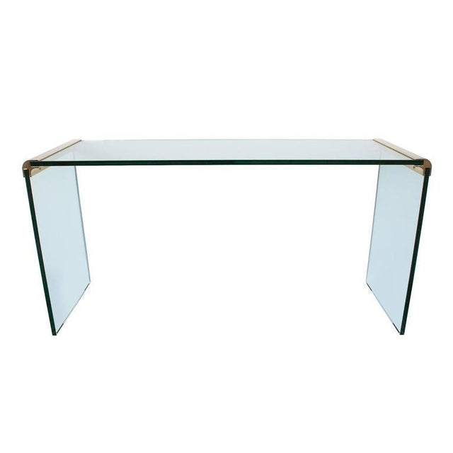 Leon Rosen for Pace Waterfall Console Table-Pair Available - Image 6 of 6
