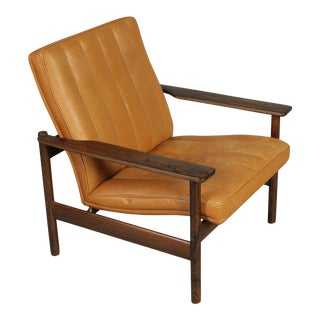 Mid-Century Norwegian Leather Armchair by Sven Ivar Dysthe