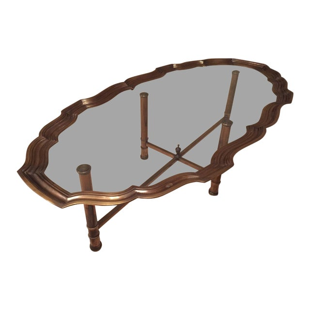 Pie Crust Brass Coffee Table - Image 1 of 5