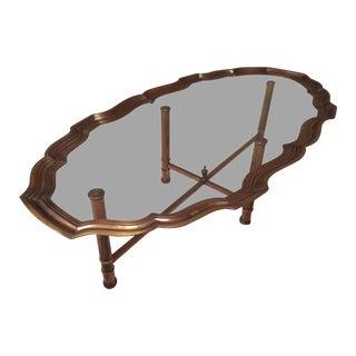 Pie Crust Brass Coffee Table
