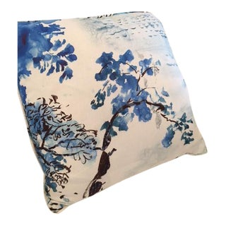 Jade Temple Linen Toile Pillow
