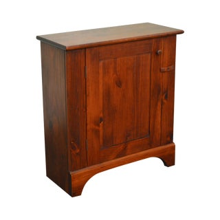 Solid Pine Custom Crafted Small Narrow 1 Door Console Cabinet