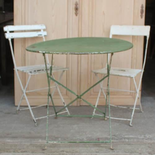vintage french bistro table chairs chairish