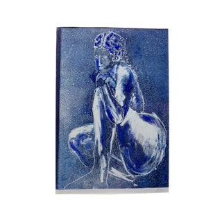 """""""Blue Nude"""" Original Painting by Martha Holden"""