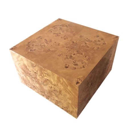 Burl Cube Coffee Table - Image 9 of 9