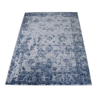Modern Blue Distressed Rug - 8' x 11'4''