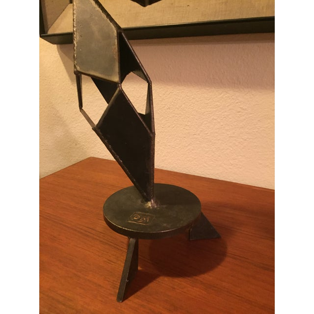 Mid-Century Modern Signed Sculpture - Image 9 of 11