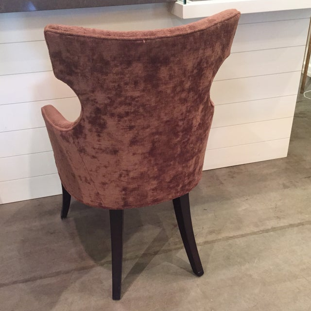 Image of Stylistic Arm Chair in Crushed Velvet