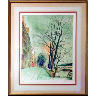 "Lucien Ardenne ""Canal Street"" Lithograph"