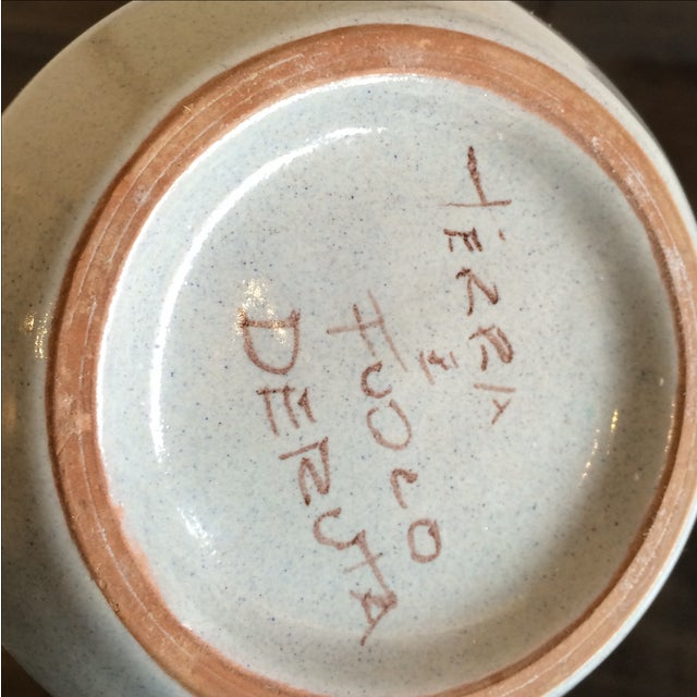 Deruta Italian Pottery Tall Vase - Image 6 of 8