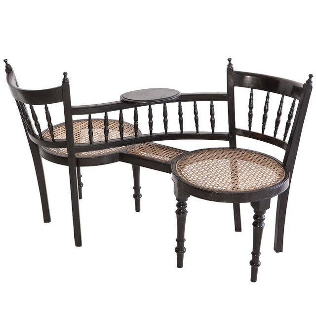 Anglo-Indian Tete a Tete Chair - Image 1 of 3