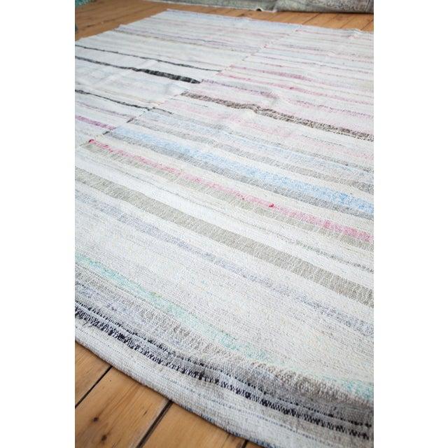 "Image of Vintage Cotton Area Rag Rug - 7'10"" x 8'7"""