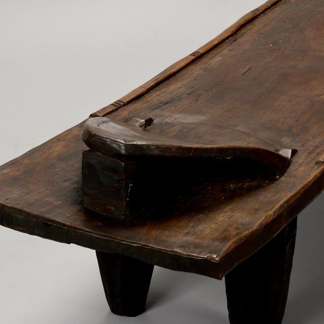 Ivory Coast Dark Wood Senufo Bench - Image 7 of 11