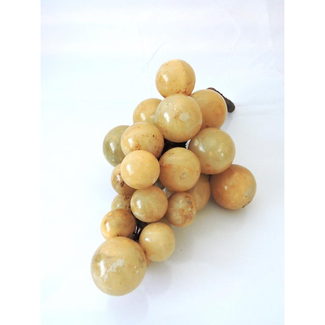 Image of Vintage Italian Alabaster Grape Cluster
