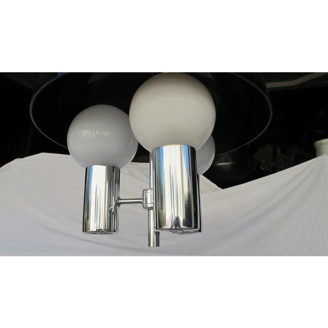 Image of Vintage 1960s Lucite & Chrome Pendant Light
